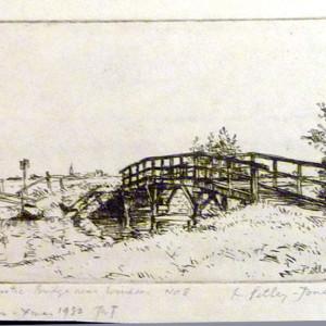 2591 - Rustic Bridge Near Windsor by Llewellyn Petley-Jones (1908-1986)