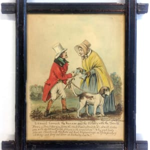 2609 - Samuel Cornock the Runner and the Old Lady by Stephen Jenner (1794 - 1881) Grand-Nephew of Dr. Edward Jenner