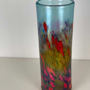 5110 - Colourful Hand Blown Glass Vase