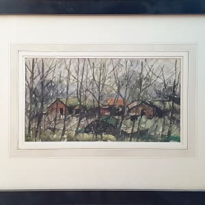 3082 -  Cabins in the Forest by Llewellyn Petley-Jones (1908-1986)