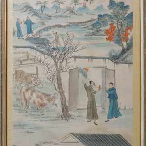 2135 - Two Men and Oxen