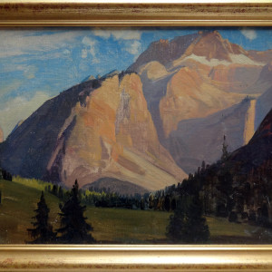 0308 -  Mountain Scene by Artist Unknown