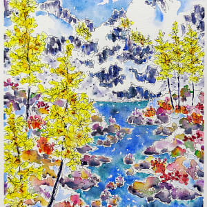 3042 - Early Snow, Larch Lake by Ann Nelson