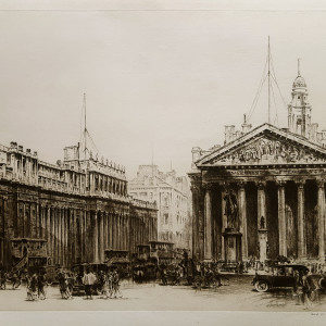 2967 - The Royal Exchange by Frederick Arthur Farrell (1881-1935)