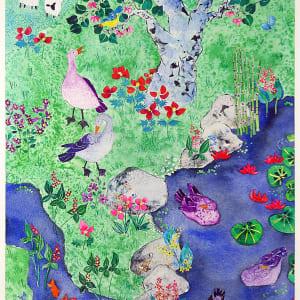 3040 -Geese at Joe's Creek by Ann Nelson