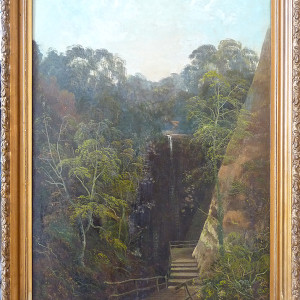 0116 - Landscape with waterfall/steps