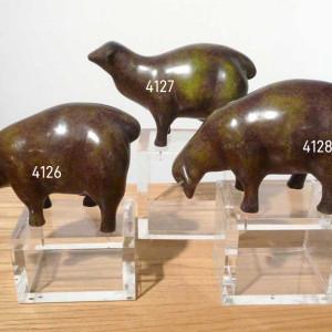 4126 - Sheep (three sculptures) by Salem Ali