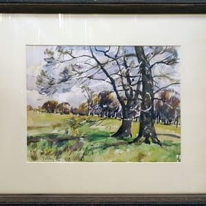 2395 - Two Trees in Richmond Park by Llewellyn Petley-Jones (1908-1986)