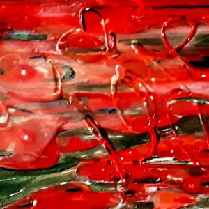 b) Red Lily Sensation by Kathleen Katon Tonnesen