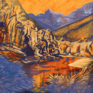 a) Gold Creek, Maple Ridge, BC by Kathleen Katon Tonnesen