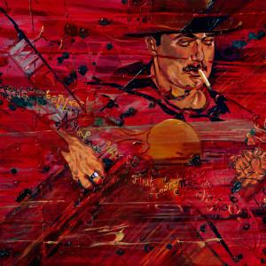 a) Gypsy Jazz King Nirvana by Kathleen Katon Tonnesen