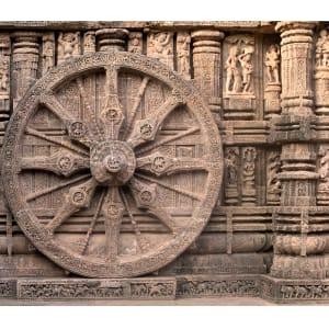 Wheel at Konark by Ellen Howell