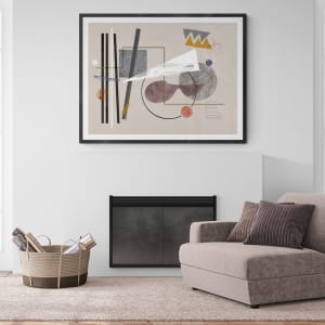 Traveling Without a Plan by Liz Mares  Image: Example of what a framed and matted piece could look like.