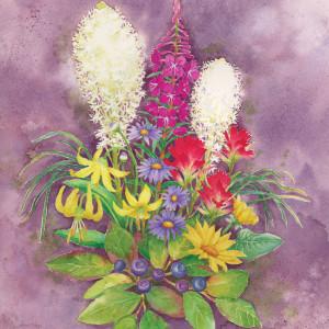 Glacier Flowers and Hucks by Jessica Glenn