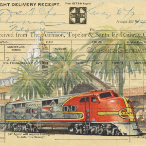 Santa Fe Locomotive by Jessica Glenn