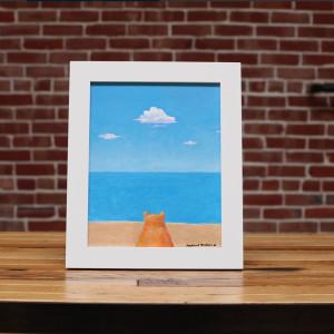 Cat Beach (when cats dream) by Richard Becker