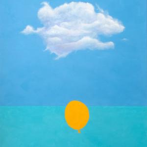 Orange Balloon by Richard Becker