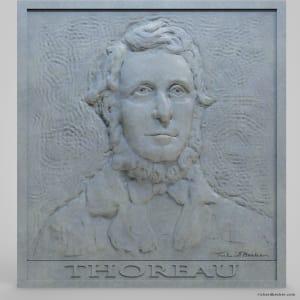 Thoreau bearded relief Work in Progress by Richard Becker