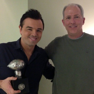 Stewie Griffin and Seth McFarlane for Fox by Richard Becker