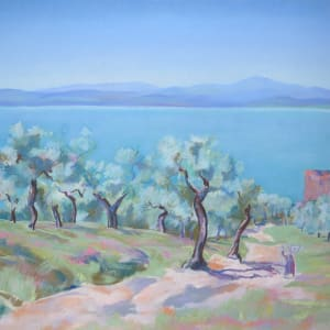 Lac Trasimène, les oliviers by LECOULTRE John-Francis (1905-1990)