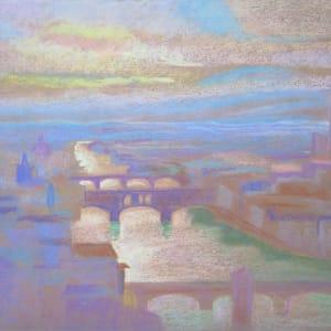 Florence, l' Arno doré by LECOULTRE John-Francis (1905-1990)
