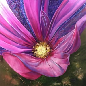 Quilted Fuchsia Flower by Tony Mayard