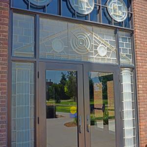 Copeland Hall Cast Glass Entry