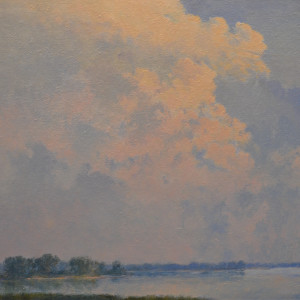 View of the Platte River (Platte River Skyscape)
