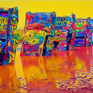 "7th Place – Overall - Mary Schwindt - ""Cadillac Ranch"" – www.mschwindtphotography.com"