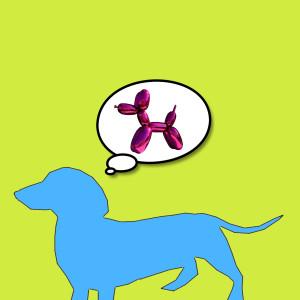 Bobby Dreams of Jeff Koons Dog Pink