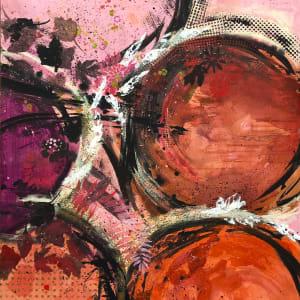 Fall In Love Pink Pumpkin Orange by Tina Psoinos