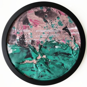 Green on Pink Dot 2