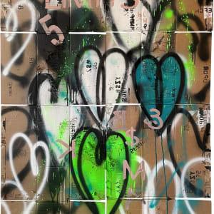 No Limits Hearts_on cardboard by Tina Psoinos