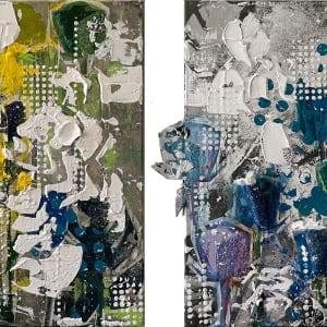Urban Jungle Yellow and Blue by Tina Psoinos