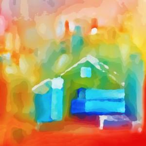 Abstract house ptoyqb