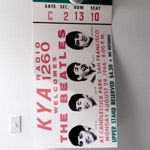 Beatles ticket 1966 nqdbst