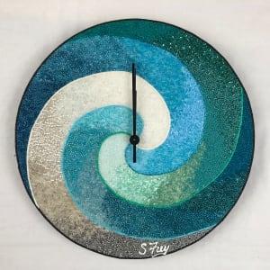 Seaside Swirl Clock