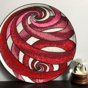 Swirl Globe Red by Sabrina Frey