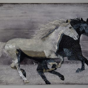Into the Wind - horses by Sabrina Frey