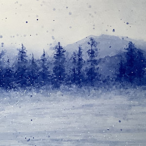 Wintery Forest by Wanda Fraser