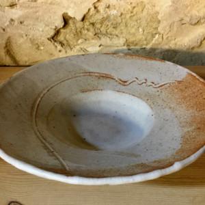 White Shino Stoneware Plate
