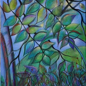 Leaves After Rain (Unframed print) by Nancy Giffey