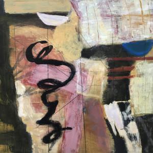 Black Swirl (Original on panel) by Suzanne Gernandt
