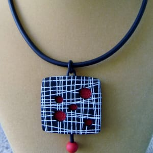 Red/Black Necklace by Charmaine Harbort