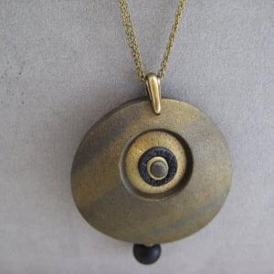 Antique Gold Round Necklace