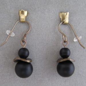 Antique Gold/Onyx Earrings