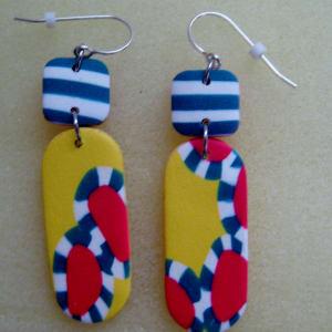 Yellow/Multi Stripe Earrings