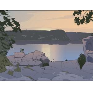 Devil's Lake Sunrise (Unframed print) by John Miller