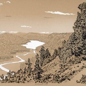Escarpment Trail (Framed) by John Miller