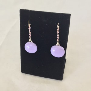 Beaded Wire Drop Earrings (click for more color options) by Patti Fowler